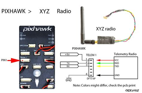 Osd 3dr Wiring Diagram by Pixhawk Telemetry Connect Diy Drones Drones In 2019