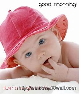Cute Baby Good Morning Wallpaper Download