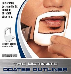 beardoptima goatee outliner perfect beard shaper facial With goatee trimming template