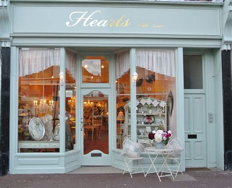 hearts shop front design shop interiors vintage cafe design