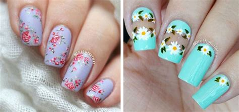 20+ Floral Nail Art Designs & Ideas 2017