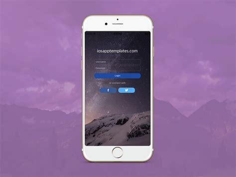 iphone login free iphone login screen template in 3 ios app