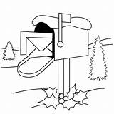 Mailbox Coloring Pages Holiday Printable Activity Clipart Coloringpages Version Pinclipart sketch template