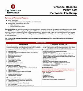 employee file With staff policy template