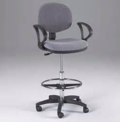 gray counter drafting height office chair stool w