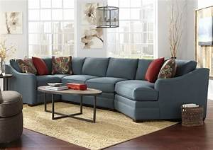 Four piece customizable sectional sofa with raf cuddler by for Small sectional sofa with cuddler