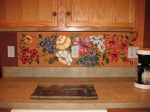 Kitchen excellent ideas for kitchen decoration using for What kind of paint to use on kitchen cabinets for orange flower wall art