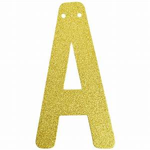 glitter letter banner garland 6inch gold letter a With glitter banner letters