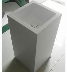 vasque sur pied dimitri vasque sur pieddesign mobilier With salle de bain design avec vasque totem pierre