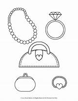 Coloring Pages Bracelet Purse Necklace Printable Pearl Ring Diamond Heart Necklaces Coin Stylish Bracelets Jewelry Earrings Jewellery Enjoy Floating Designlooter sketch template
