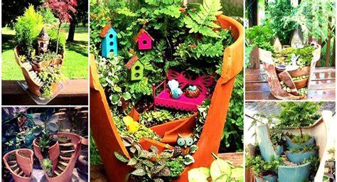idee pot de depart pas cher id 233 e d 233 co vos pots cass 233 s recycl 233 s en jardins miniatures