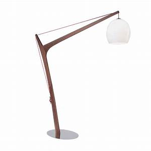 imposing wooden floor lamp from roche bobois With used wood floor lamp