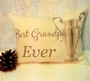 handmade best grandpa ever pillow With best pillow ever made