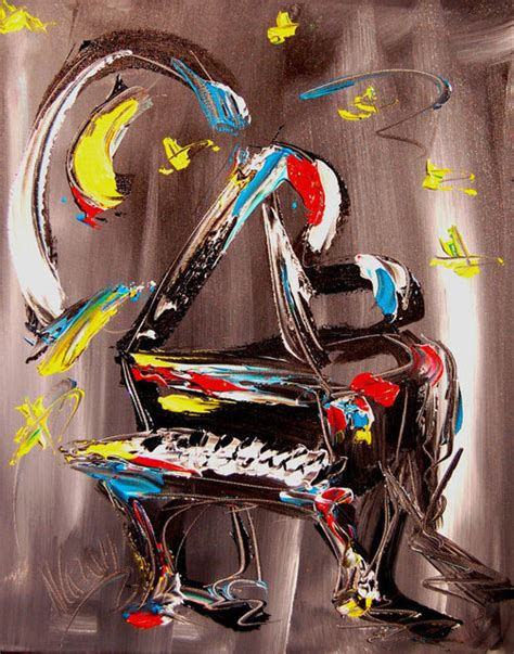 kazav artwork jazz piano modern abstract original painting by kazav original mixed