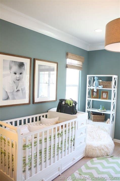 great color scheme wall color burlap lam shade details white molding family room