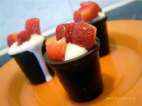 recette de volcan au fromage blanc dessert express