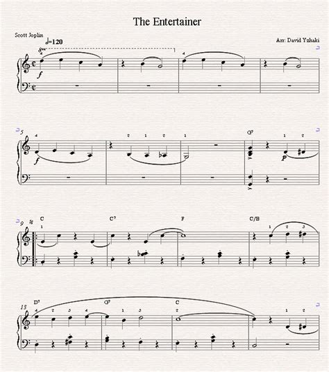 The entertainer by scott joplin as an accordion arrangement. The Entertainer Sheet Music and Piano Tutorial