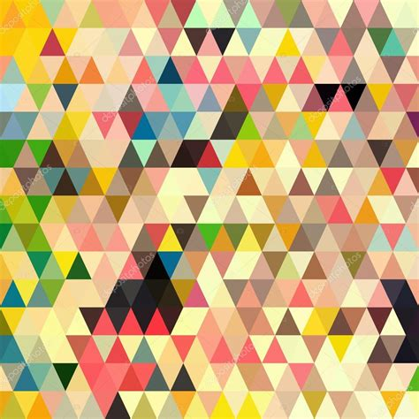 Abstract Geometric Shapes Pattern by Abstract Geometric Triangle Seamless Pattern Stock