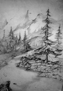 Pictures: Pencil Drawings Of Mountain Landscapes ...
