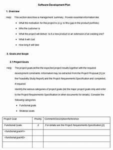 software development plan template free premium templates With software project proposal template word