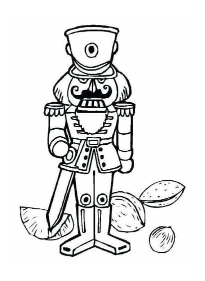 Nutcracker Coloring Pages Christmas Printable Nuts Crafts