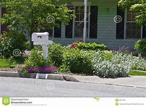 Residential Flower Garden stock photo. Image of ...