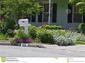 Residential flower garden stock photo image of for Residential flower gardens
