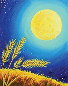 social artworking canvas painting design harvest moon