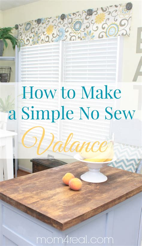 how to make a valance easy no sew valance 4 more no sew projects 4 real