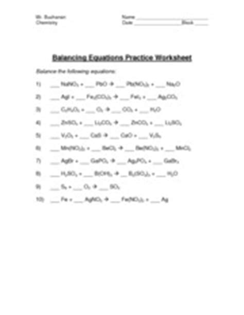 Predicting Products Of Chemical Reactions Worksheet Solutions  Answers 1 Double Replacement 2