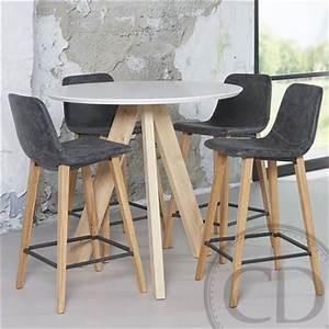 Table Haute En Bois : table haute de cuisine sandinave blanche tree table de ~ Dailycaller-alerts.com Idées de Décoration