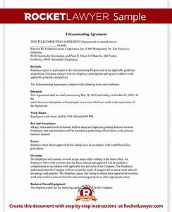 telecommuting agreement remote work policy rocket lawyer With telework agreement template