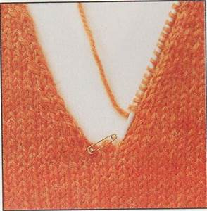 Knitting a V Neck easy instruction for how to knit a v ...
