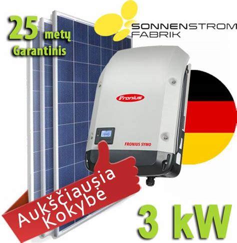 3 kW saulės elektrinė. Saulės baterija. Saulės moduliai ...