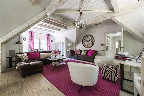 Pink And Brown Living Room