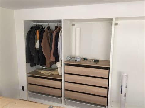 Ikea Built In Closet by Built In Pax Using Wall Technique Ikea Hackers