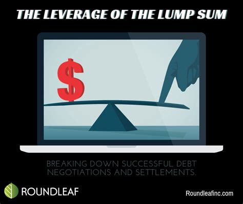 Pay your cards off in a lump sum if you will save on interest. Breaking down successful debt negotiations and settlements ...