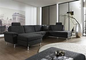 Wohnzimmer Mit Grauer Couch : sofa von dietsch modell davina in grau ~ Bigdaddyawards.com Haus und Dekorationen