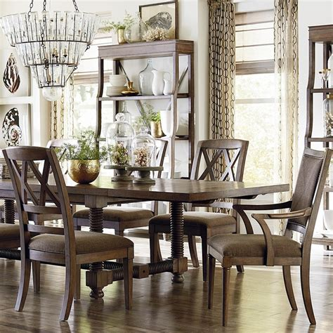 compass 104 quot dining table by bassett furniture dining tables