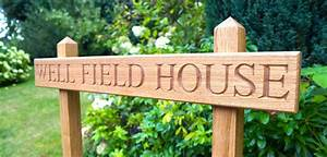Personalised, Wooden, House, Signs