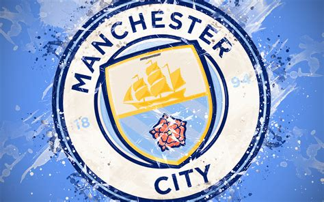 Download wallpapers Manchester City FC, 4k, paint art ...