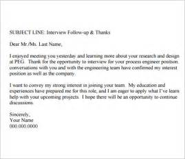 good follow up email after interview follow up email after interview template 8 free