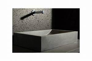 Vasque En Pierre : torrence vasque en pierre vier en granit v ritable 60x40 ~ Teatrodelosmanantiales.com Idées de Décoration