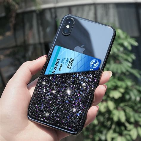 Check out our phone card holder selection for the very best in unique or custom, handmade pieces from our phone cases shops. Glitter PU Leather 3M Adhesive Decorative Sticker Pocket Card Credit ID Holder Back Phone Pouch ...