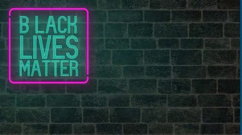 Black Lives Matter Neon Wall Zoom Background Template