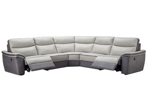 canapé d angle cuir relaxation electrique canapé d 39 angle relaxation électrique 5 places en cuir