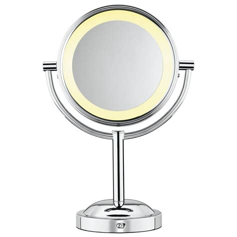 makeup light mirror vanity makeup mirror cosmetic tabletop chrome led lighted