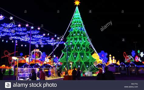 houston christmas tree at the magic winter lights show in