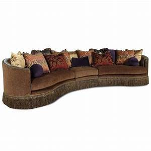 whitney traditional 3 piece sectional sofa with fringed With sectional sofas baton rouge