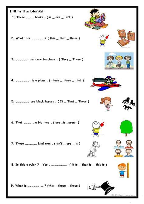 thesethose worksheet  esl printable worksheets